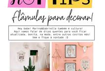 Flâmulas para decorar